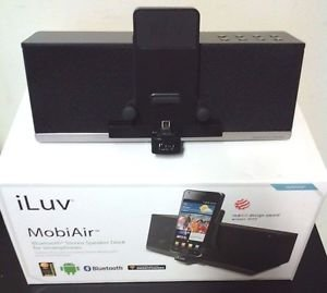 Used iLuv MobiAir Bluetooth Stereo Dock for Smartphones w Micro-USB Charging