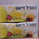 2 Pack Neli Natural Diet Tea Lemon and Lime Taste Tea Bags 80 Count Each