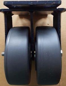 "RWM Casters - 2-75-NYB-0620-R - Dual Wheel, Rigid, 6"" Dia, 2"" Width"