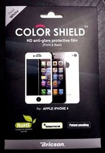 Bricson Colorshield IP4-CS1-14 Anti-Glare Protective Film for iPhone 4 4S White