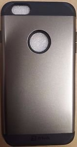 JETech Slim Armor Protective for Apple iPhone 6 Plus Logo Cut-Out - Silver