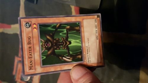 man-eater bug starter deck yugi yugioh card