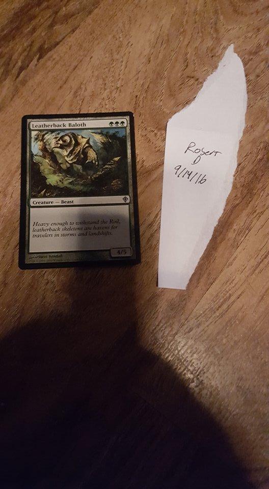 leatherback baloth worldwake magic card