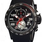 Morphic M4 Series Men's Chronograph Silicone Strap Watch, Black, Standard