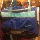 New Nike Duffel Bag Bookbag Black & Blue
