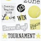 Self-Adhesive Designer Chipboard, Tennis