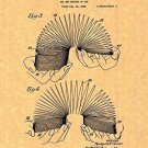 Slinky Patent Print Art Poster (8.5 X 11 )