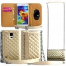 Harryshell Fashion Wallet Design Case For Samsung Galaxy S5 With Shoulder Chain