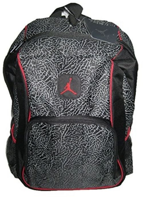 Jordan Elephant 2-Strap Backpack - Black/red, One Size