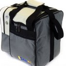 KAZE SPORTS Deluxe Single Ball Bowling Tote Bag Beige & Gray New