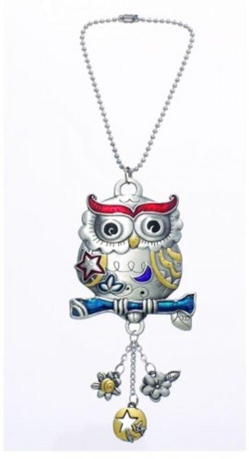 Ganz Owl Color Art Car Charm