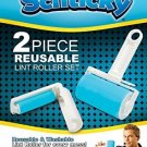 NEW ~ SCHTICKY 2 PIECE REUSABLE LINT ROLLER SET