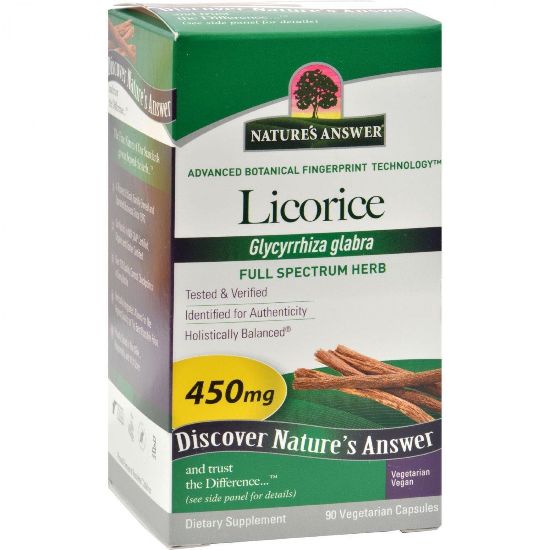 Nature's Answer Licorice Root - 90 Vegetarian Capsules