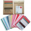 Wrapables Decorative Patterns Masking Sticker Set - Basic