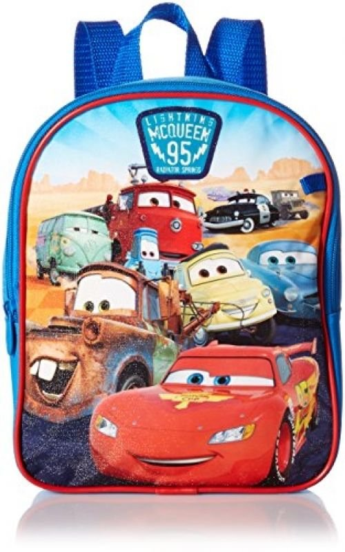 Disney Boys' Cars Mini Backpack With Utility Case, Blue, One Size