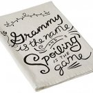 Primitives By Kathy Grammy Tea Towel, 28-Inch By 28-Inch
