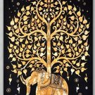 Elephant Under Tree Tapestry, Indian Hippie Wall Hanging / Dorm Divider