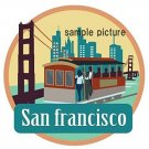 Travel Sticker San Francisco USA Made Of Waterproof Paper (JAPAN Import)