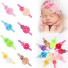ROEWELL® 9 Pieces Baby's Headbands Girl's Cute Hair Bows Hair bands Newborn h...