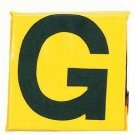 12 Sideline Markers - Set Of 11 (Black On Yellow)