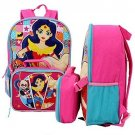 DC Comics Super Hero Girls Backpack With Lunch Bag - 16 H