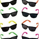 Rhode Island Novelty Neon 80's Style Party Sunglasses With Dark Lens (Pack Of