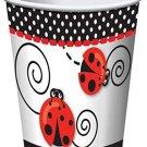 Ladybug 9oz Cups (8 Pack)