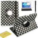 Fulland Colorful 360 Rotating Flip Leather Case Cover For Samsung Galaxy Tab3