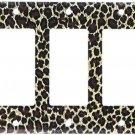 Art Plates - Leopard Print Switch Plate - Triple Rocker