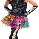Girls Mh Skelita Calaveras Kids Child Fancy Dress Party Halloween Costume
