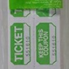 Green Raffle Tickets 250 Count Prefolded - Made In USA!
