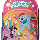 My Little Pony Little Girls Pegasus Friends 16 Backpack With Lights, Pink, 16