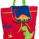 Stephen Joseph Boys Quilted Dinosaur Backpack Bag (Red)