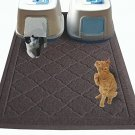 Non Toxic Jumbo Size Cat Litter Mat - (47 X 36 In) - Extra Large Scatter Kitty