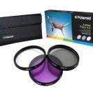 Polaroid Optics 55mm 3 Piece Filter Set (UV, CPL, FLD)