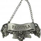 Embossed Pewter Liquor Bottle Or Decanter Label Tequila