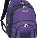 Everest Laptop Computer Backpack, Eggplant Purple, One Size