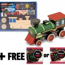 Wooden Train Decorate-Your-Own Kit + FREE Melissa & Doug Scratch Art Mini-Pad Bu