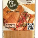 Kelly Craig Maple Appetizer Grilling Wraps, 10-Pack