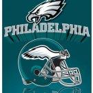 Philadelphia Eagles Light Weight Fleece NFL Blanket (Grid Iron) (50x60 )