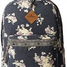 O'Neill Junior's Beach Blazer Canvas Printed Backpack, Steel/Steel, One Size