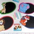 ~ 12 ~ Zoo Safari Mini Chalkboard Magnet Sets ~ New ~ Lion, Tiger, Elephant,