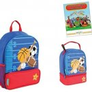 Stephen Joseph Sidekicks Backpack, Lunch Box, and Coloring Book, Sports