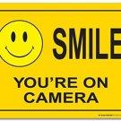 My Sign Center CCTV security video surveillance warning sign, Legend 'SMILE YOU