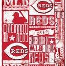 Northwest NOR-1MLB031020007RET 50 X 60 In. Cincinnati Reds MLB Light Weight