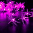 LED SopoTek Multi-color Led String 30 LED 6m Dragonfly Solar Fairy String Solar