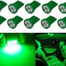 Cutequeen LED 10PCS Car Lights Bulb Green T10 3528 4-SMD 194 168 (pack Of 10)