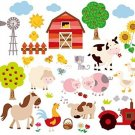 Farm Friends Baby/Nursery Peel and Stick Wall Art Sticker Decal