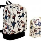 Wildkin Horse Dreams Sidekick Backpack Back Pack And Lunch Bag School Bundle Set