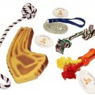 Everlast Pet Toys | Best Rope and Squeaker Bundle For Dogs | Steak Bone | Ball